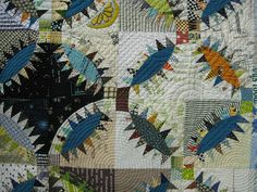 Classic Pickle Dish pattern-The colors and textures of the fabrics make this today.