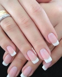 French Nails, French Tip Acrylic Nails, French Tip Nail Designs, French Manicure Nails, Cute Acrylic Nails, Cute Nails, Pretty Nails, Manicure And Pedicure, My Nails