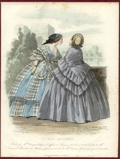 Fashion plate from 1858