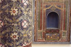 pompeii mosaics photos | marble column mosaics from Pompeii | Mosaic Art Source