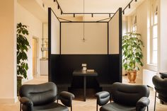 Fosbury & Sons Coworking Offices - Amsterdam | Office Snapshots Steel Frame Doors, Amsterdam Photos, Old Hospital, Booth Seating, Co Working, Coworking Space, Contemporary Artwork, Contemporary Office, Office Interiors