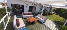 Felipe Pizarro M. +5966992769 Outdoor Furniture, Outdoor Decor, Sun Lounger, Home Decor, Terrace, Chaise Longue, Decoration Home, Room Decor, Interior Design