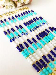 Evil eye bracelet, turquoise beads bracelet, turquoise beaded bracelet, miyuki bracelet, gold disc bracelet, blue evil eye charm, seed beads #jewelry #bracelet #evileye #goldbracelet #evileyebracelet #turquoisebracelet #seedbeads #miyukibeads