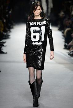 Look 20  DRESS style NO: AC460A BLACK ALLOVER SEQUINS TF T-SHIRT DRESS WITH BLACK VELVET HEM BOOTS style NO: W1216T-VLT BLACK VELVET COWBOY ...