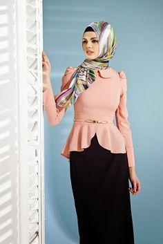 Robe de Soirée Hijab en Rose 2015