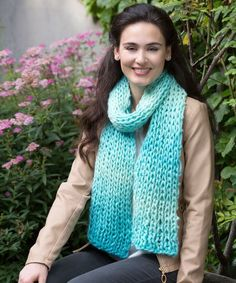 Beginning knitting can be a challenge, but luckily, there are plenty of gorgeous free knitting patterns that even a rookie can handle. This Sea Glass Knit Scarf is a shining example, and it's so simple, you won't believe it.