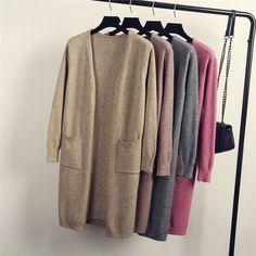 Link:  Europe Street Style #Cardigans #KnittedSweaters 2015 #WomenFashion Oversized Cardigan Vintage #LongSweaters Thin Open #Coat Sjf083. Add it to your #wishapp
