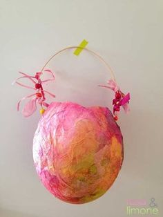 Laternen-final-4-rosa&limone Sea Creatures, Art School, Life Is Beautiful, Kids Playing, Lanterns, Christmas Bulbs, Holiday Decor, Artwork, Crafts