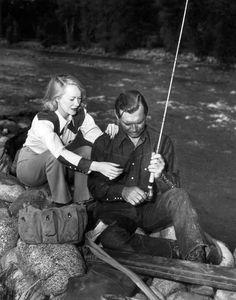 Clark Gable stream side.