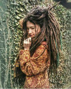 #Woman with #dreadlocks.