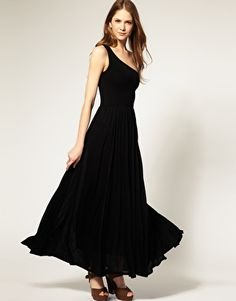 Frenc Connection One Shoulder Maxi Dress