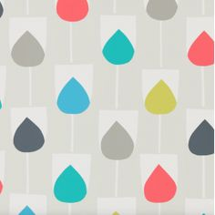 Scion Sula 111322 (Indigo/Sapphire/Raffia) wallpaper from the Lohko collection, priced per roll. Simplistic, graphic tulips printed onto non-woven wallpaper available in fashion forward palettes Print Wallpaper, Wallpaper Roll, Wallpaper Decor, Wallpaper Designs, Retro Wallpaper, Motif Simple, Indigo, Motif Vintage, Retro Vintage