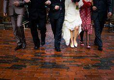 Wedding party walking Real Weddings, Photographs, Walking, Party, Image, Fashion, Moda, Fiesta Party, Fashion Styles