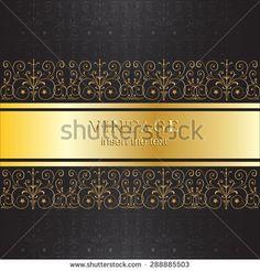 vintage black and gold invitation