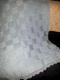 Basket weave afghan by afghansandmore1 on Etsy