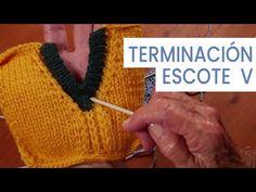 Explicación detallada de cómo tejer un cuello escote en V o en pico, que sea fácil y que quede perfecto terminado. Videos paso a paso Knitting Stitches, Knitting Needles, Fair Isle Knitting, Crochet For Beginners, Crochet Clothes, Fingerless Gloves, Arm Warmers, Knit Crochet, Sewing