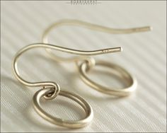 Sterling Silver Circle Earrings - Jewelry by Jason Stroud.
