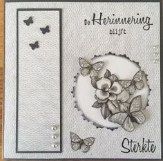 Condolences, Layout Inspiration, Diy Cards, Annie, Scrapbook, Activities, Fitness, Papillons, Cards