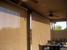 Roll Down Patio Shades | AAA Sun Control Roll Down Shades, Patio Shade,  Fabric