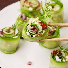 Greek Sushi, Greek Sushi Get your chopsticks ready! Get your chopsticks ready! Get your chopsticks ready! Many of these healthy H E A L T H Y . Get your chopsticks ready! Get your chopsticks ready! **REPLACE feta with vegan cream cheese :) nice Get your c Sushi Recipes, Appetizer Recipes, Vegetarian Recipes, Cooking Recipes, Healthy Recipes, Party Appetizers, Party Recipes, Cooking Food, Canapes Recipes