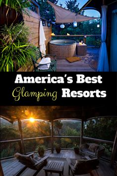 The best glamping holiday resorts in America for luxury camping lovers.