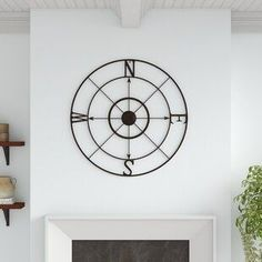 Best farmhouse wall decorations and rustic wall decor you will love. We absolutely love country themed wall decorations including farmhouse wall art, canvas art, mirrors, and more. Iron Wall Decor, Rustic Wall Decor, Rustic Walls, Spa Bathroom Decor, Farmhouse Wall Clocks, Farmhouse Decor, Compass Wall Decor, Rose Wall, Retro