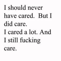 caring sucks