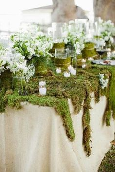 The Theme: A Midsummer Night's Dream Woodland Wedding Decorations Enchanted Forest Decorations, Enchanted Forest Wedding, Woodland Wedding, Rustic Wedding, Forest Themes, Trendy Wedding, Enchanted Garden, Woodland Party, Whimsical Wedding Ideas