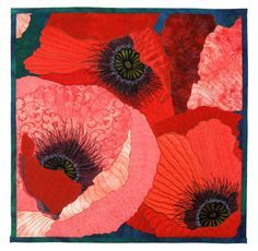 Poppy Flirtation by Sue Siefkin | art quilt