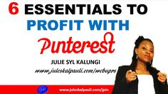 The Future of Pinterest 2017  The 6 Building Blocks you must have in place to Make Money with Pinterest this year. For more Pinterest marketing training; Sign up for my Signature e-Course at http://ift.tt/1Uehdyo This is Your Year so Make it work for you by leveraging Pinterest for more traffic opt-ins and sales.   Love to share this Video: https://youtu.be/ONqqZRzEDe0  In this training I share my best Pinterest marketing tips that will show you how to properly make money with Pinterest get…