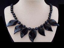 Achat, Blätter, Perlen, Halskette, Kette, Collier,