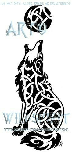 Knotwork Howling Coyote Tattoo by WildSpiritWolf on DeviantArt Tattoo Drawings, Body Art Tattoos, Tribal Tattoos, Tatoos, Coyote Tattoo, Tatoo Styles, Heaven Tattoos, Quarter Sleeve Tattoos, Interesting Animals