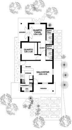 planta baixa casa pequena