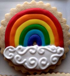 Rainbow cookies- would not look like this is if made them! :D