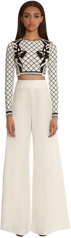 AQ/AQ Margarita Wide Leg Trousers - Cream