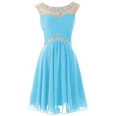 Dresstells Short Prom Dresses Sexy Homecoming Dress for Juniors... (120 AUD) ❤ liked on Polyvore