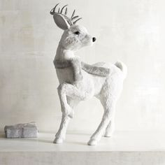 Nautral Standing Large White Deer