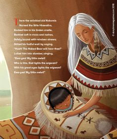A beautiful illustration from our Storytime Issue 18 poem, Hiawatha, art by Andre Ceolin (http://www.andreceolin.com) ~ STORYTIMEMAGAZINE.COM