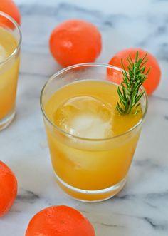 Tangerine + Rosemary Neapolitan Recipe | Whiskey Cocktail | Luci's Morsels :: LA Food Blog CC: @melissasproduce