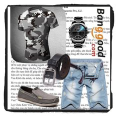 """Banggood IV/1"" by a-camdzic ❤ liked on Polyvore featuring men's fashion and menswear"
