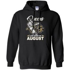 Queens Are Born In August - UCF Knights baseball T shirt Hoodie