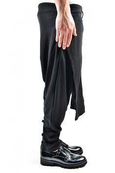355c745e E X E Drop Crotch Sweatpants Street Fashion Black Or Grey Pants Street Wear  Cool Trousers Menswear www