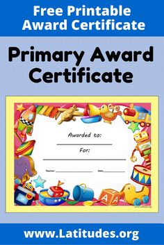 58 best award certificates for kids images on pinterest award