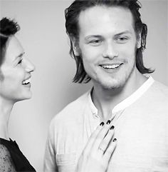 """caitrionabalfe: """" """"We said let's put her [Caitriona] and Sam together and see what the chemistry was. The chemistry was great, and that was it. We were sold."""" ~ Ron D. Moore """""""