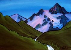 one of my favorite artists! Mt. Baker by Evan Whitehead