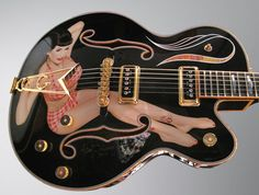 Gretsch Guitars - Ideas To Discover The Guitar And Rock Out Ukulele, Guitar Tabs, Cool Guitar, Gretsch, Fender Telecaster, Custom Electric Guitars, Custom Guitars, Man Cave Art, Play That Funky Music