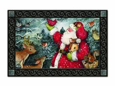 Magnet Works MAIL15013 Birdhouse Santa Mat Mate *** Discover this special deal, click the image : Doormats