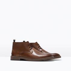 ZARA - MAN - LEATHER DESERT BOOT