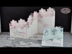 z-Fold Card using Snowflake Sentiments - YouTube