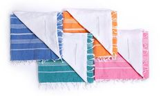 Basic Beach Towel Terry-Lined w/ Zipper Pocket in Various Colors design by Turkish-T